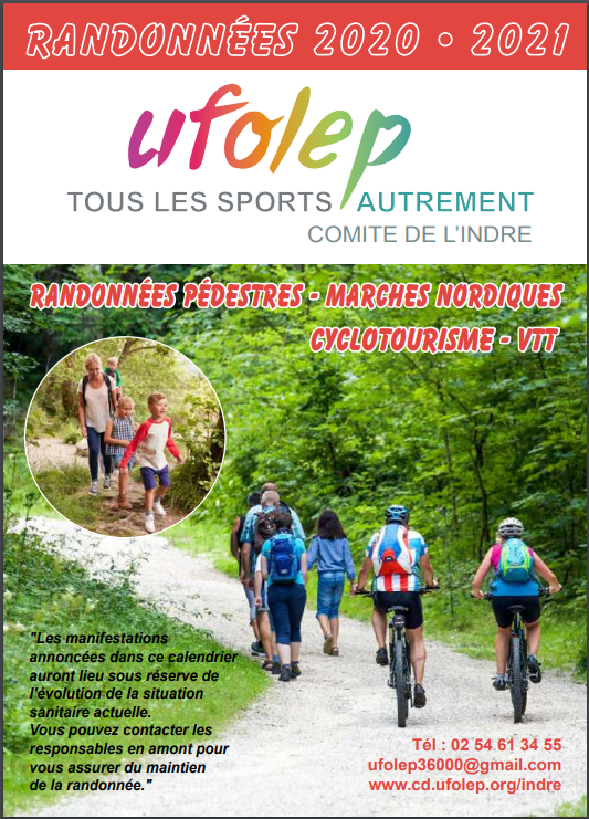 Calendrier Ufolep 2021 Cyclisme Calendrier UFOLEP   Indre